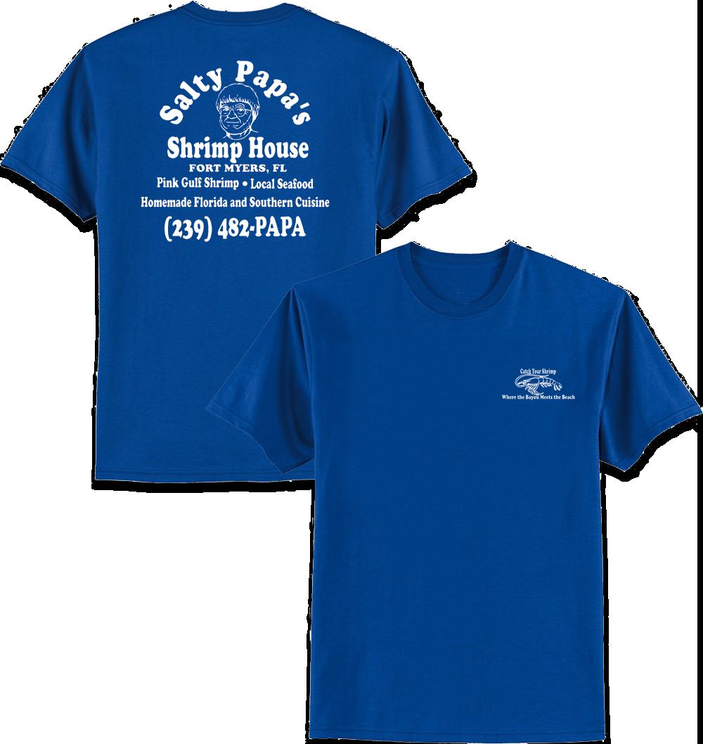 Zazzle t shirt design template - Men S Royal Blue T Shirt Salty Papa S Shrimp House